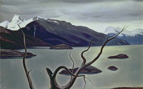 Picture landscape, mountains, picture, Rockwell Kent, Rockwell Kent, Strait Admiralty