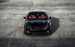 Picture Mustang, Ford, Front, Black, Face, Sight