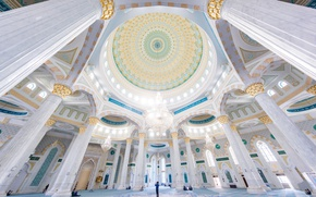 Wallpaper mosque, Kazakhstan, Hazret-Sultan, Astana, architecture
