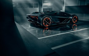 Picture Lamborghini, Light, Wheels, Hypercar, Rear, The Third Millennium