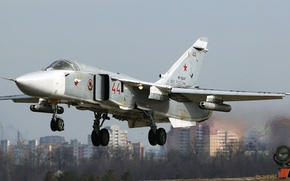 Picture Sukhoi, Fencer, Su-24M, Russian tactical bomber