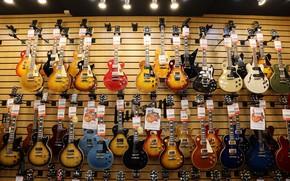 Picture music, guitar, shop