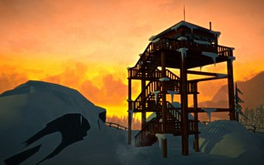 Picture Sunset, Minimalism, Sunset, Minimalism, The Long Dark, Indie game