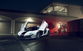 Wallpaper McLaren, White, 650S, Supercar, Front, KARTUNZ