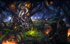 Picture Bran Stark, painting art, artwork, forest, digital art, king, Game of Thrones, fantasy art, dragon ...