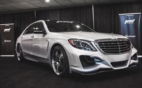 Picture auto, white, Mercedes-Benz, garage