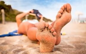 Picture sand, beach, feet