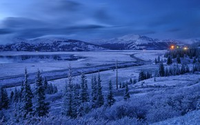 Picture winter, trees, mountains, lake, Colorado, Colorado, Copper Mountain, Jackson, WY, Leadville