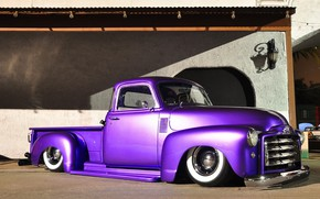 Picture lowrider, purple, pic up, Gmc