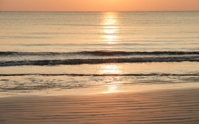 Picture sand, sea, wave, beach, summer, the sky, sunset, shore, summer, beach, sea, sunset, seascape, romantic, …