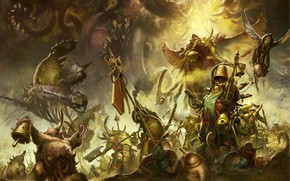 Picture chaos, Death, demons, Warhammer 40 000, Death Guard, plague, Nurgle, primarch, Mortarion