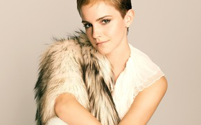 Picture actress, Emma Watson, celebrity, short hair