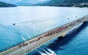 Picture sport, France, Alps, cyclists, athletes, Platoon, The tour de France, team SKY, procycling, elite sport, …