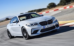 Picture movement, coupe, speed, track, BMW, 2018, F87, M2, M2 Competition