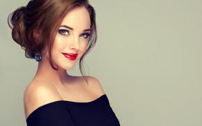 Wallpaper hairstyle, face, girl, beautiful, look, makeup
