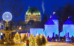 Picture Canada, QC, Ice Palace, Winter carnival, Bonnem