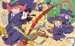 Picture girl, hat, anime, asian, witch, japanese, oriental, asiatic, bishojo, broom, shounen, mahou, Little Witch Academia
