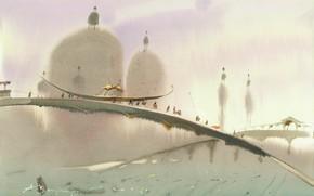 Picture boat, Arusha Vozmus, The bridge over the Domes