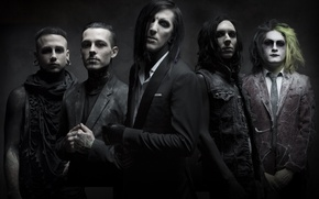 Picture rock band, metalcore, post-hardcore, Motionless In White, gothic rock