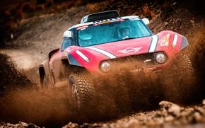 Picture Red, Mini, Sport, Race, Dirt, Squirt, Rally, Dakar, Dakar, SUV, Rally, The front, X-Raid Team, …