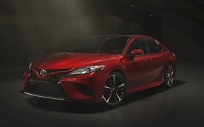 Wallpaper Red, XSE, Toyota, 2017, Camry