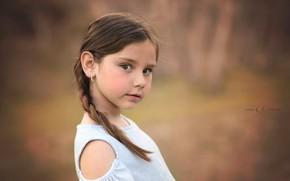 Picture girl, portrait, bokeh, Carmen Gabaldon