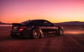 Picture desert, Mercedes-Benz, the evening, car