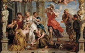 Picture picture, Peter Paul Rubens, mythology, Pieter Paul Rubens, Detection Of Odysseus Achilles Among The Daughters …