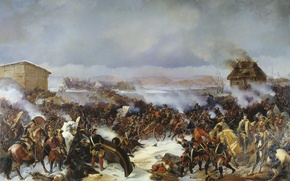 Picture oil, Canvas, The battle of Narva, The battle of Narva, Alexander KOTZEBUE, The great Northern …