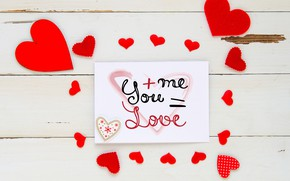 Picture love, heart, hearts, red, love, I love you, heart, wood, romantic