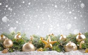 Wallpaper winter, decoration, balls, Christmas, tree, snowman, Christmas, decoration, Merry Christmas, winter, snow, snow, New Year, ...