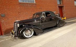 Picture Chevrolet, Black, 1938, Cabriolet, Lowrider, Custom, Hotrod
