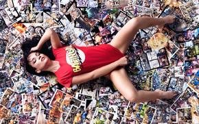 Picture t-shirt, legs, comics, Germany, North Rhine-Westphalia, Nerdy Comic Girl, DesignPictures