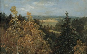 Picture German school of painting, 1830, Carl Gustav Carus, Forest landscape