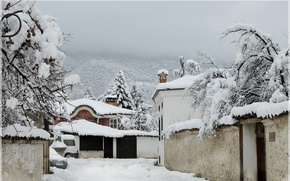 Picture Home, Winter, Mountains, Snow, Village, Frost, Winter, Frost, Snow, Mountains, Village