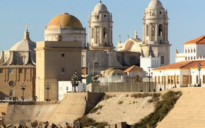 Picture tower, home, Spain, the dome, Cadiz, Cathedral of the Holy cross