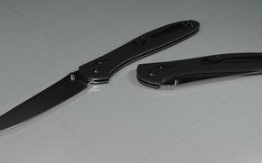 Picture steel, black, model, knife, plastic, Hansa, discharge, ganzo