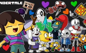 Picture characters, undertale, undertail, anime game
