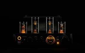 Wallpaper the intensity, music, dark, black background, amplifier, sound, lamp, tube amplifier, amplifier