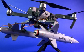 Picture USA, military, weapon, rocket, U.S. Air Force, drone, Mavic Pro with Rockets, Mavic Pro