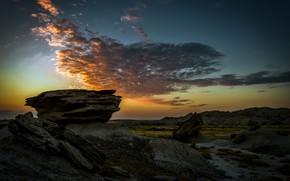 Picture Sunrise, Nebraska, Toadstool Geologic Park