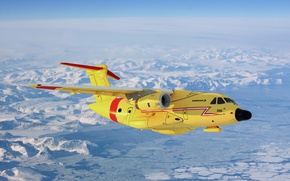Picture the plane, twin-engine, transport, average, range, Embraer, KC-390