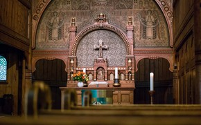 Picture cross, Church, temple, religion, the altar