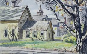 Picture New York, 1946, Charles Ephraim Burchfield, Gardenville, Autumn Morning