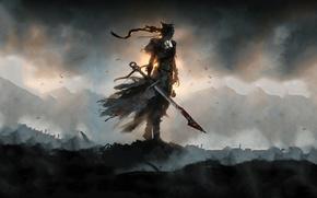 Picture sword, blood, game, ken, blade, warrior, darkness, shadow, Hellblade: Senuas Sacrifice
