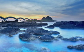 Picture bridge, Taiwan, Taitung, Sanxiantai Dragon Bridge