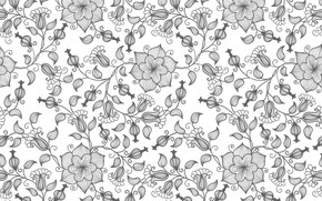 Picture flowers, pattern, vector, texture