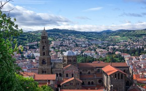 Picture the city, France, Cathedral, France, Le Puy-en-Velay, The Cathedral of Our Lady of the Puy …