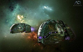 Picture space, stars, The Defender, Online Strategy Game, A.D. 2460