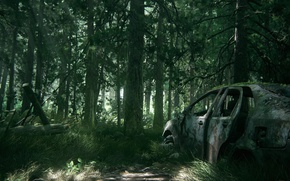 Picture car, game, tree, The Last of Us, vegetation, The Last of Us Part 2